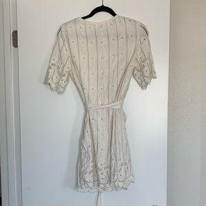 Tularosa Dresses - Tularosa Embroidered Eyelet Rocky Dress In Shell